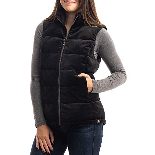 ZeroXposur Ladies Velour Vest (Small, Black)