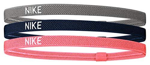 Nike Unisex– Erwachsene Elastic Hairband Haarband, Smoke Grey/Midnight Navy/Bright Mango, Einheitsgröße