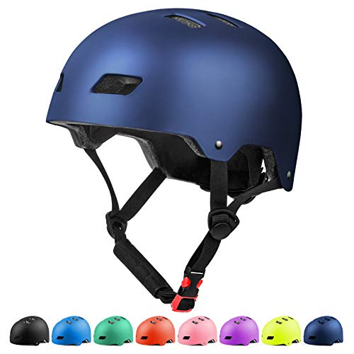 Glaf Adult Cycling Bike Helmet Men Women Bike Helmet Classic Commuter Bike Skate Multi-Sport Helmet Adjustable Lightweight MTB Mountain Bike Helmet for Scooter Roller Skateboard (Navy Blue, L)