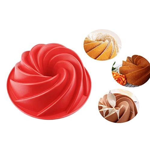Cake Molde Bakeware Molde de Alimentos Cake Pan Forma de Remolino Silicona Cake Mould Cocina Herramientas de horneado para Pasteles