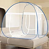 Pop Up Mosquito Net Tent, Foldable Bed Canopy Double Door with Bottom for Bed Travel Camping Outdoor(79 x71x59 inch)