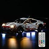BRIKSMAX Kit de iluminación LED para Lego Technic Porsche 911 RSR - Compatible con Lego 42096 Building Blocks Model- No incluir el Conjunto de Lego