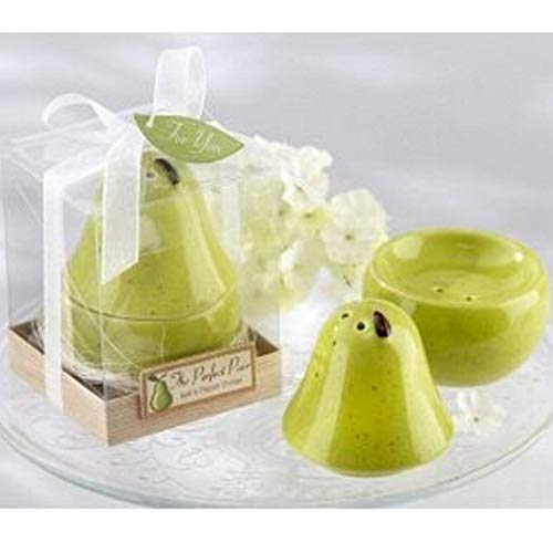 72 Sets Ceramic Perfect Pair Pear Salt and Pepper Shakers Set For Wedding & Baby Shower Favors