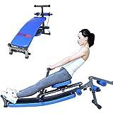 Rameur Pliable, Rowing Machine Rameur d'Appartement Rameur Musculation Fitness Ergometre, avec 12 Résistances Réglables, Double Voie, Charge Max De 200kg, Home Gym Workout