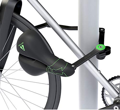 SEATYLOCK COMFORT 2 in 1 with Integrated Folding Lock & Lock Bike Saddle - Sporty Schwerlast Premium Bore Resistant Hybrid Bicycle Seat Anti-theft Lock for Maximum Protection for your bicycle
