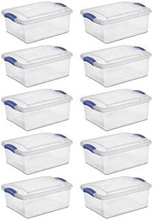 Sterilite 15 Quart Latch Box Stadium Blue/clear Case of 10 Home Organization Sweaters Crafts Sewing Storage