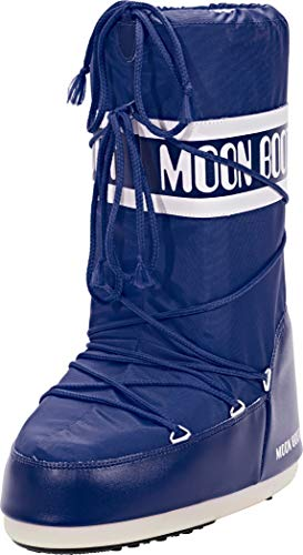 MOON BOOT Nylon, Botas de Nieve Unisex niños, Azul (Blue 2)