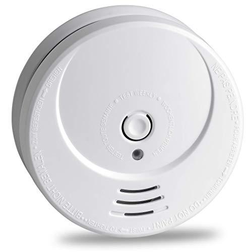 SEBSON 10 Jahres Rauchwarnmelder, DIN EN 14604 Zertifiziert, fotoelektrischer Rauchmelder GS506G, Lithium Langzeit Batterie, Brandmelder