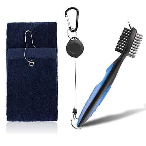 Amoper Golf Club Brush and Golf Towel Groove Cleaner...