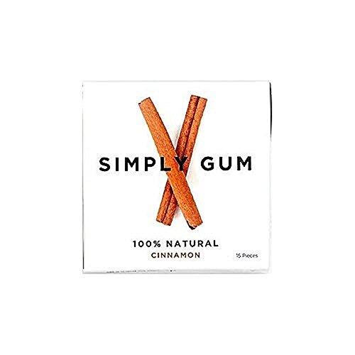 Simply Gum   natürlicher Kaugummi   Zimt   Vegan + Non GMO   15 Stück x 6 Packungen