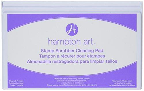 Hampton Art Stempel Scrubber Reinigung Pad und Case, Mehrfarbig, 7,5x 11,4