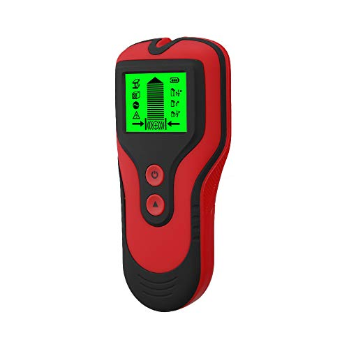 Stud Finder Sensor Wall Scanner 3 in 1 Metal/Voltage/Stud Detector with LCD Display for Wood Live AC Wire Metal Studs Detection (Red)