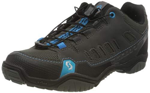 SCOTT Crus-R Zapatillas, Mujer, Antracita/Azul neón, 37