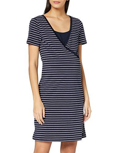 ESPRIT Maternity Damen Dress Nursing ss yd Nachthemd, Night Blue-486, S