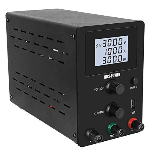 Juhuitong Fuente de alimentación de Laboratorio de CC Variable 4 Pantalla LCD...