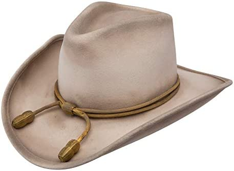 Stetson Men s Fort Crushable Wool Leather Hatband Cowboy Hat Silverbelly product image