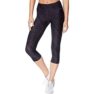 Calvin Klein Performance Womens Ruched Cropped Athletic Leggings Black XS