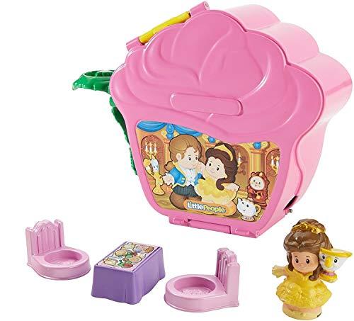 Fisher-Price Little People Disney Princess Belle's Fold 'N Go Rose Playset