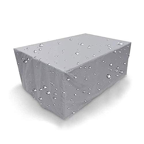 ASPZQ Cubiertas de Muebles Jardín para Patio Al Aire Libre Impermeable 210D Rectangular para Exteriores para Sofá Mesa Silla Cubierta Lluvia, Varios Tamaños (Color : Silver, Size : 110×110×85cm)