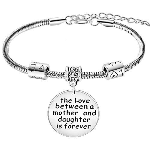 BESPMOSP Mother's Day Gift Mum Bracelet Grandmother Bracelet Mom Birthday Gifts Mum Bracelets From Daughter (mother and daughter)