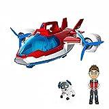 N\C Paw Patrol Toy Set Paw Rescue Aircraft + Equipado con hélice móvil y música de Rescate