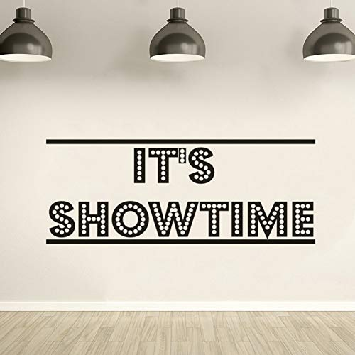 CHENXU Es ist Showtime Poster Film Wandtattoo Kino Theater Dekoration Film Strip Tape Wandaufkleber Kino Ecke Tapete Kunst