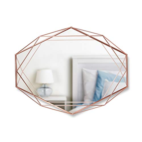 Umbra Prisma Modern Geometric Shaped Oval Mirror Wall Decor...
