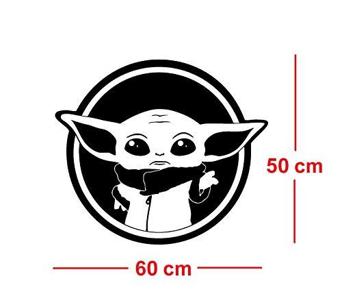 Star Wars Maître Jedi Yoda Sticker mural Guerres des étoiles Signe Cadeau Vinyle Autocollant mural Art mural imprimé Conception Chambre de bébé Salle de jeux pour enfants Décor Garderie d'enfants