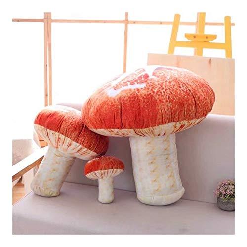 Yuhualiyi123 3D-Druckkissen Simulation Mushroom Pillow herausnehmbares und waschbares Plüsch-Spielzeug Kreative Festival Plüschtiere Geschenk für Kinder/Familie/Freunde