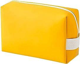 Allwiner Make-up tassen beweegbare cosmetische tas PU lederen reizen schoonheid rits toilettas voor vrouwen geel multifunc...