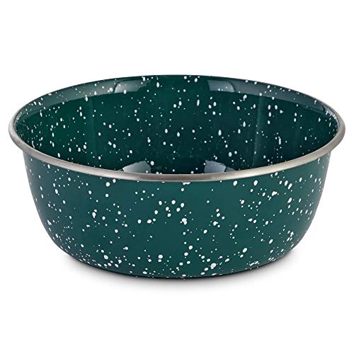 Harmony Speckled Enamel Coated Steel Dog Bowl, 8.2 Cups, Large, Blue