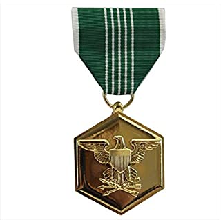 Vanguard Full Size Army Commendation Military Medal Award-24K Gold Plated
