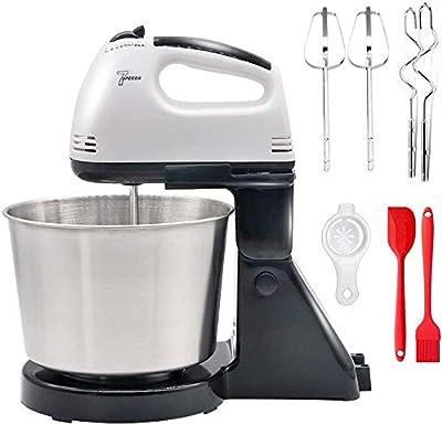 Batidor eléctrico de mano, batidor de huevos con olla de 7 velocidades, cocina para hornear alimentos para cocina, hornear, pasteles, crema de huevo, batidor de alimentos
