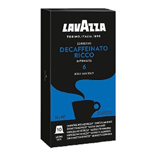 Lavazza Deca ffeinato Espresso, Café Cápsulas entkoff einiert, Compatible con Máquinas, 50Cápsulas de Nespresso Café Cápsula