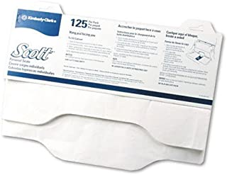 Kimberly-Clark Professional : Sanitary, Flushable, White Toilet Seat Covers, 18 x15, 125/Pack -:- Sold as 2 Packs of - 125 - / - Total of 250 Each