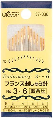 針 『フランス刺しゅう針 No.3~6』 Clover クロバー
