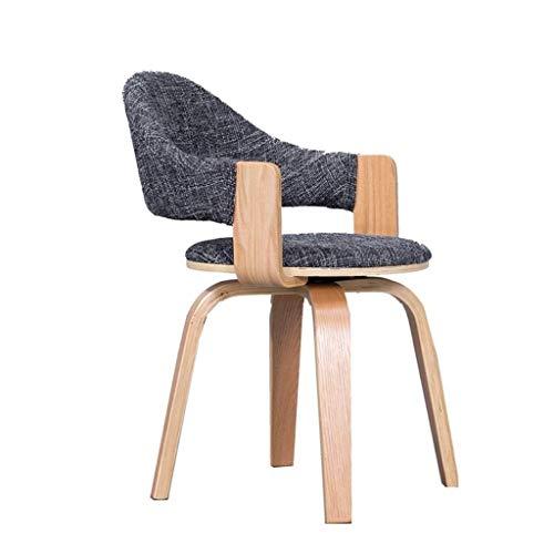 JJZXD Moderne Chaise pivotante avec Pieds en Bois Fauteuil for Bureau d'étude Salon Vanity Chambre