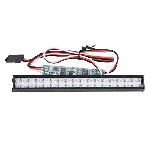 Dilwe Luce per Tetto a LED per Auto RC, Pezzi di Ricambio per L'aggiornamento della Luce ad Alta Luminosità Colorati 34LED Adatti per Traxxas RC Car
