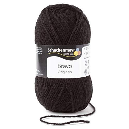 Schachenmayr Handstrickgarne Bravo, 50g Schwarz