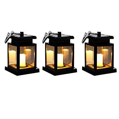 Cobeky Farolillos para exteriores, luces solares colgantes, linternas solares, iluminación LED brillante para decoraciones de jardín de patio (3 paquetes)