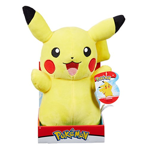 Pokemon 96368 Pikachu-Plüsch, Mehrfarbig, 12-Inch