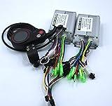 iDWF Dual Drive 36V / 48V de 350W BLDC Scooter eléctrico Controller E-bi-KE 2 PC sin escobillas de Velocidad Conductor Y 1Pcs Una Pantalla LCD Conjunto (Color : 36V Set)