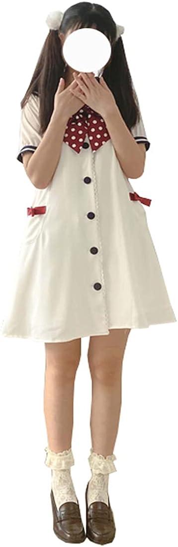 Ez-sofei Teen Girls Japanese School Uniform A-Line Sweet Lolita Dress