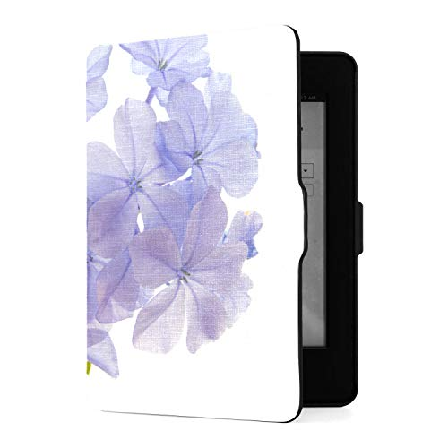 Fall für Amazon Kindle Paperwhite 1/2/3 PU Leder Smart Cover mit Auto Wake/Sleep, Plumbago Auriculata Blau Plumbago isoliert auf