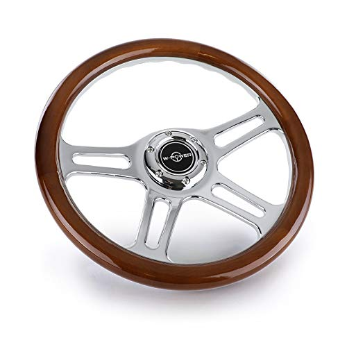 Tenzo-R 37981 Sport Lenkrad Exclusive 2 Edel Holz Chrom 340mm universal für Momo Sparco
