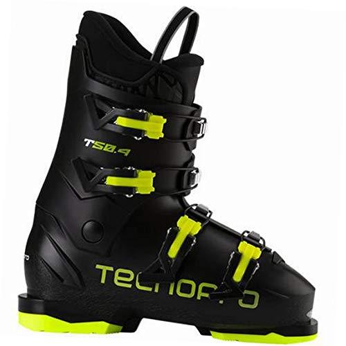 TECNOPRO Unisex Jugend T50-4 Skistiefel, Black/Yellow, 26.5