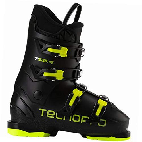 TECNOPRO Unisex Jugend T50-4 Skistiefel, Black/Yellow, 27.5