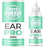 Pets Purest Ear Cleaner For Dogs Recommended by UK Vets (250ml) Stop Itching