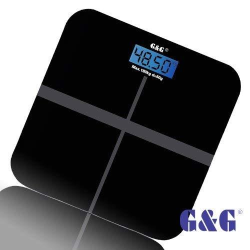 180kg Waage mit °C Personenwaage Digital Körperwaage Badwaage Gewichtwaage max