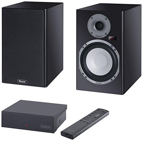 Magnasphere 33 | Vollaktives kabelloses High-End-Lautsprechersystem | zahlreiche Eingänge (Cinch, Toslink, USB, Bluetooth, aptX) | 1 Paar - schwarz